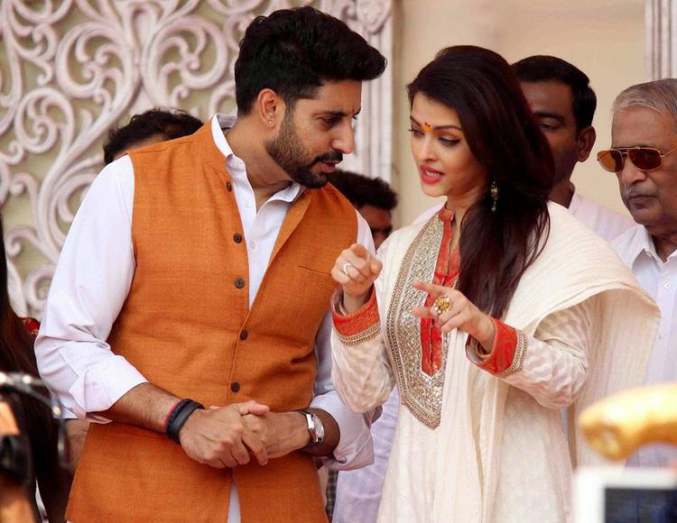 Abhishek And Aishwarya In A Deep Conversation At Gudi Padwa Celebrations