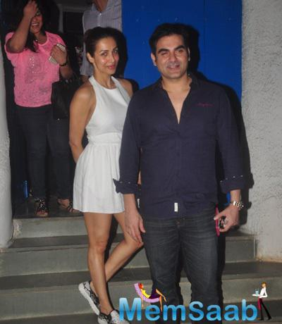 Malaika And Hubby Arbaaz Were Out For Dinner At The Olive Restaurant