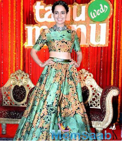 Kangana At 'Tanu Weds Manu Returns' Poster Launch Event