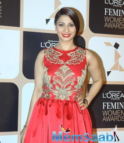 Tanishaa Mukerji Attended The L'Oreal Paris Femina Women Awards 2015