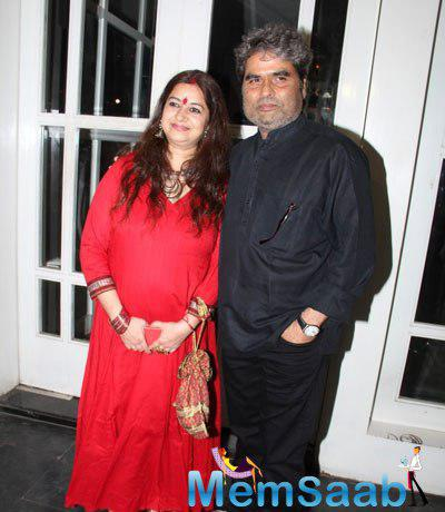 Vishal Bhardwaj And Wife Rekha Bhardwaj Celebrates Haider Movie National Award Success Meet