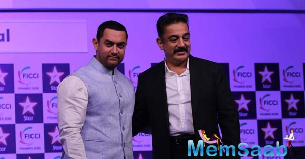 Aamir And Kamal During The Inaugural Session Of FICCI