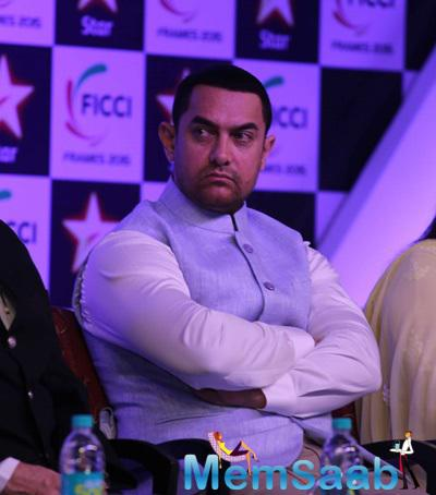 Bollywood Superstar Aamir Khan At FICCI FRAMES 2015 Inaugural Session