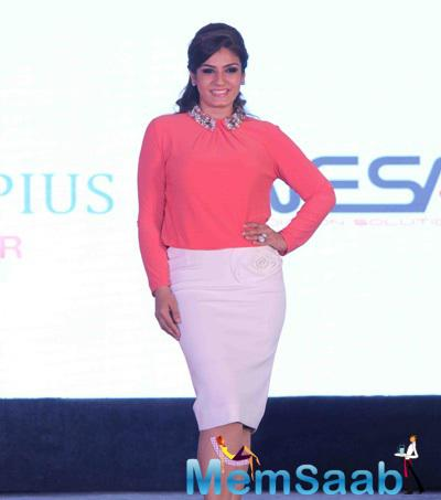 Actor Raveena Tandon During The Launch Of Radiation Safe Maternity Wear By House Of Napius