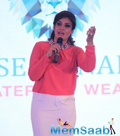 Raveena During The Launch Of Radiation Safe Maternity Wear