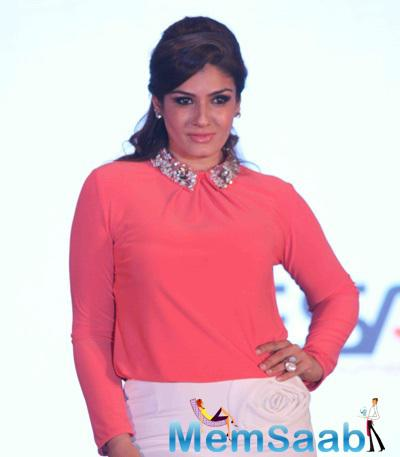 Raveena Tandon At The Launch Of 'House Of Napius' Radiation Safe Maternity Wear