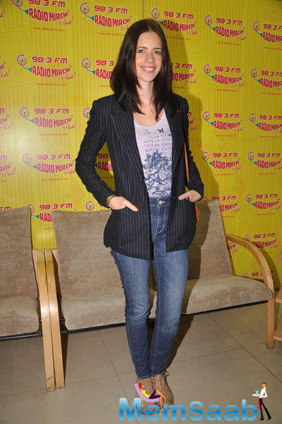 Kalki Koechlin At 98.3 Fm Radio Mirchi For Promotions Of Margarita With A Straw