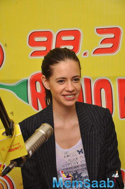 Kalki Koechlin Promote Her Film 'Margarita With A Straw' At Radio Mirchi 98.3FM Studios