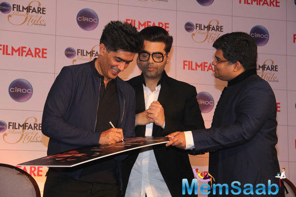 Manish Malhotra Autograph Still At Cover Launch Of Filmfare Glamour And Style Awards Issue