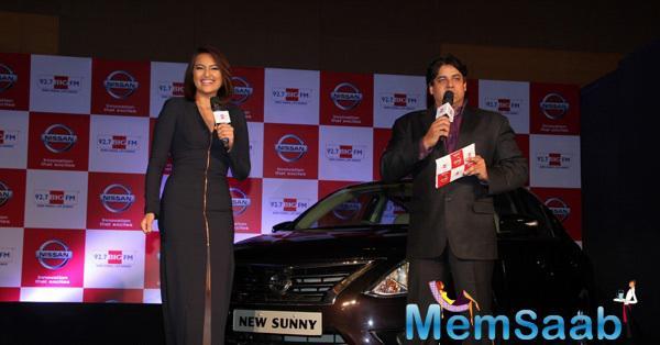 Sonakshi Sinha Stuns At Nissan Sunny Sedan & 92.7 Big Fm Event