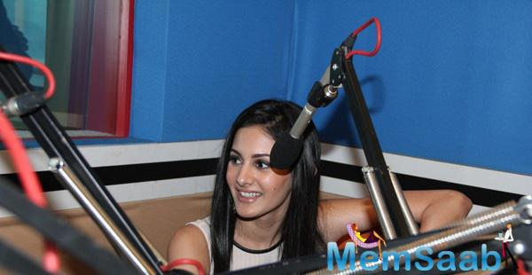 Amyra Dastur Promoted Her Upcoming Moive 'Mr.X' At RED FM 93.5 Studios In Mumbai