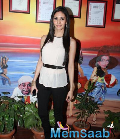 Amyra Dastur Snapped At RED FM 93.5 For Mr. X' Promotion