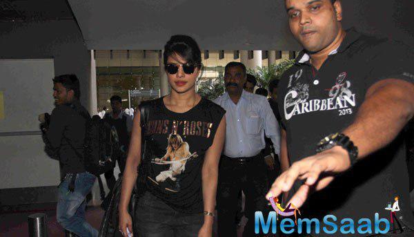 Priyanka Chopra Snapped At Mumbai International Airport