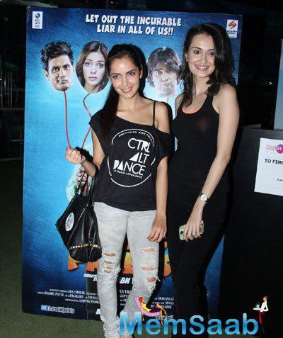 Shazahn And Vaishali Spotted To Promoting Thier Upcoming Film Solid Patels