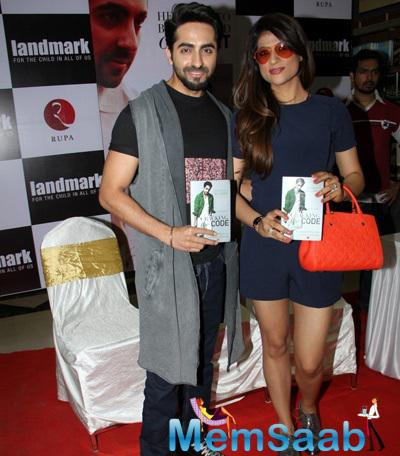 Ayushmann Khurrana Launches His Book Cracking The Code Also Her Wife Present Here