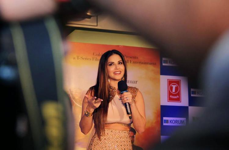 Sunny Leone Addresses The Media At The Promotion Of Ek Paheli Leela Movie