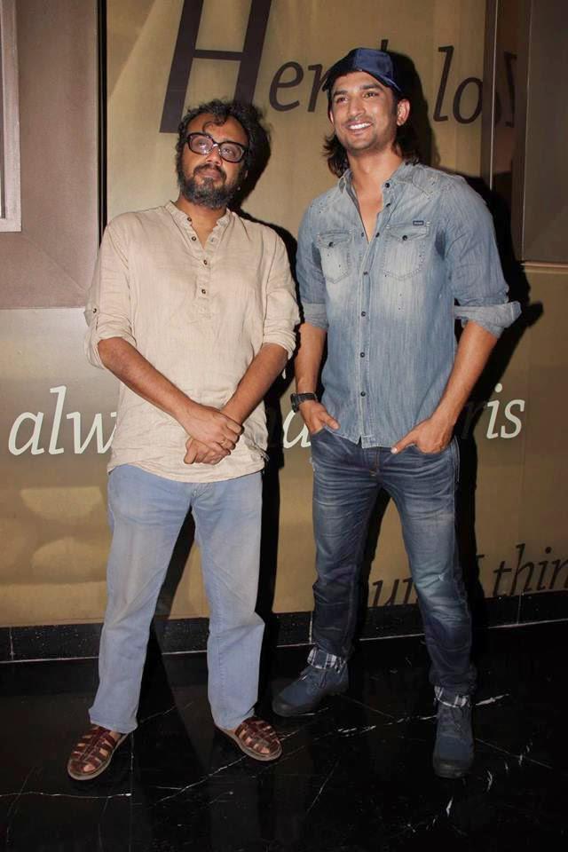 Dibakar Banerjee And Sushant Singh Rajput Posed For Camera At PVR Cinemas In Juhu