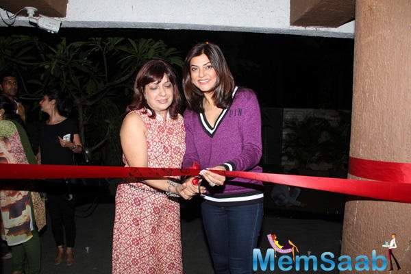 Former Miss Universe Sushmita Sen Cuts The Red Ribbon For Inaugurating The Salon