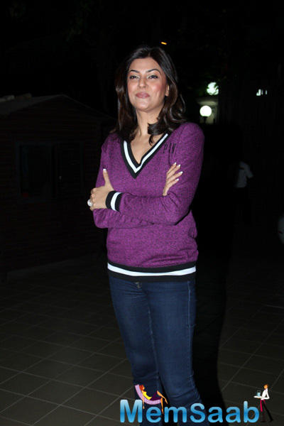 Sushmita Sen Casual Look During The Launch Of Soapbox And Makeover Salon