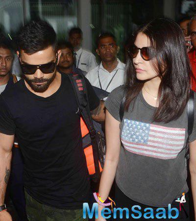 Love Birds Virat Kohli And Anushka Sharma Arrive In Kolkata For The Grand IPL8 Opening
