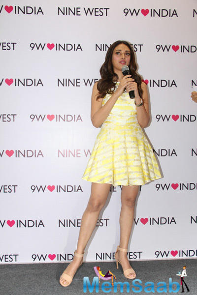 Aditi Interacting With Media and Fans During The Launch Of Spring Summer Collection By Nine West