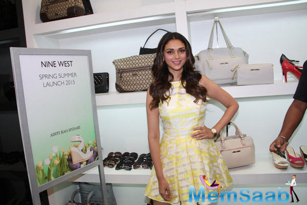 Aditi Rao Hydari From The Launch Of Spring Summer Collection By Nine West
