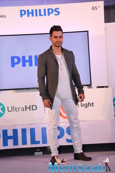 Kunal Khemu At The Launch Of Philips Ambilight 4K Ultra HD LED TV