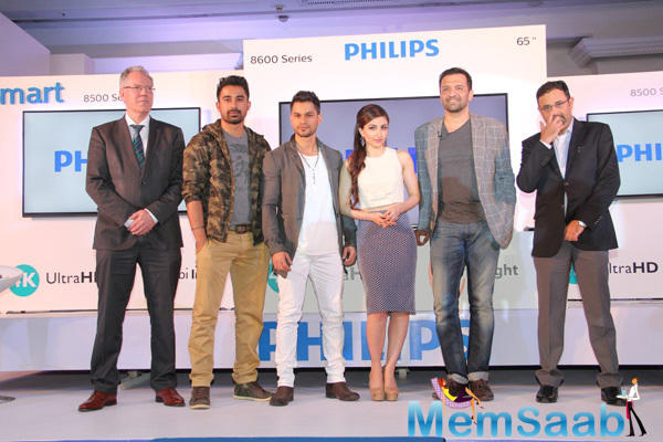 The Launch Of Philips Ambilight 4K Ultra HD LED TV By Bollywood Celebs