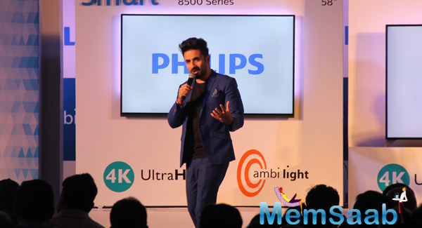 Vir Das Addresses The Media In Bandra At Philips Event