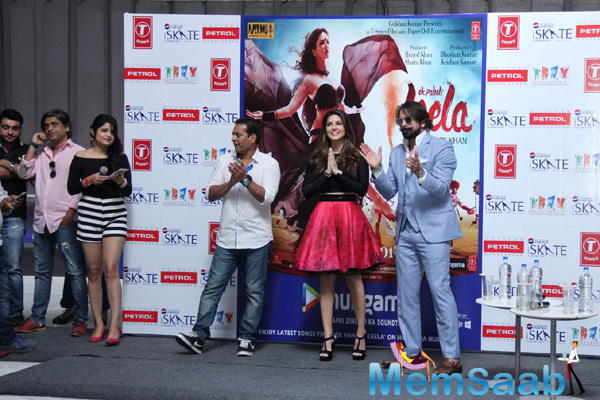 Sunny Leone, Jas Arora With Filmmaker Bobby Khan During The Promotion Of Film Ek Paheli Leela