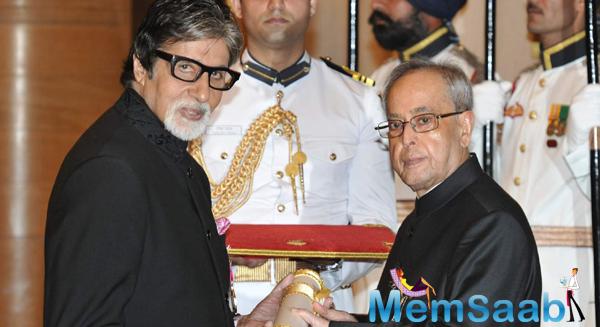 Padma Vibhushan Conferred On Amitabh Bachchan