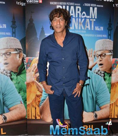Chunky Pandey Attend The Premiere Of Film Dharam Sankat Mein