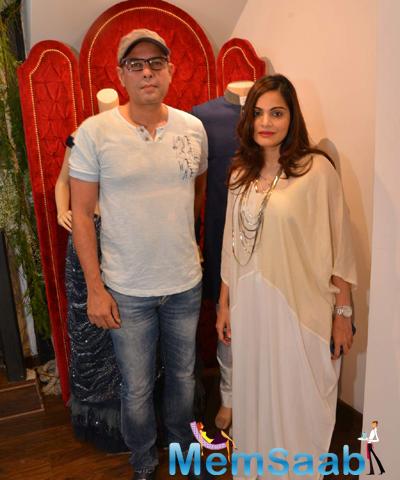 Atul Agnihotri And Wife Alvira Khan Graced At The Launch Of Avinash Punjabi Store