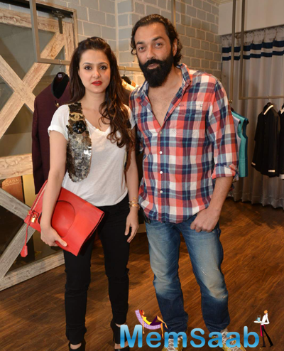 Bobby Deol Posed For Camera During The Launch Of Avinash Punjabi Store