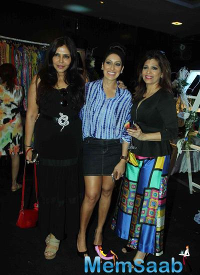 Nisha Jamwal,Maheka Mirpuri And Bina Aziz Clicked During Maheka Mirpuri Summer Resort Preview
