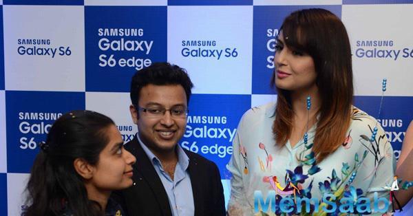 Huma Qureshi At Samsung Mobile Launch In Mumbai
