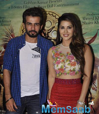 Sunny Leone And Jay Bhanushali Visits Gaiety Galaxy For Film Promotion