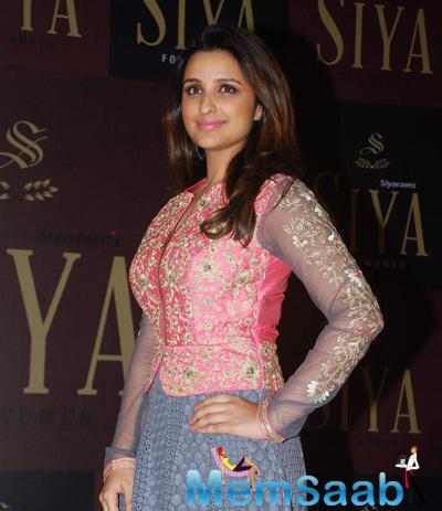 Parineeti Chopra Radiant Look During The Launch Of Siyaram Siya Fashion Brand