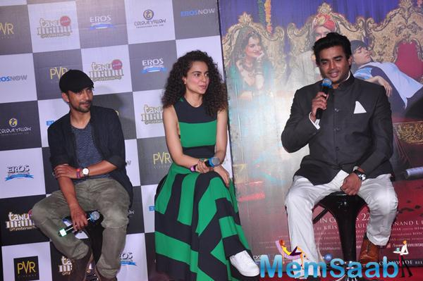 Candid Moments At The First Look Launch Of Kangna Madhavans Tanu Weds Manu Returns