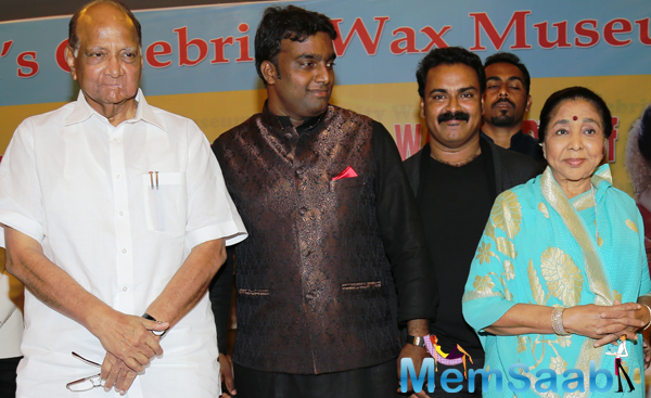 Sharad Pawar And Asha Bhosle's Wax Statue Unveiling At MCA Lounge