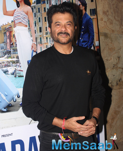 Anil Kapoor Flashes Smile During The Trailer Launch Of Dil Dhadakne Do