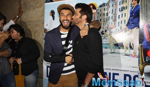 Anil Kapoor Kisses Ranveer Singh During Dil Dhadakne Do Trailer Launch