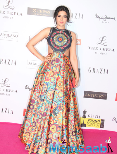 A Celeb Posed For Camera At Grazia Young Fashion Awards 2015