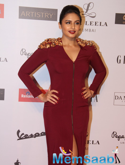 Huma Qureshi Glamorous Look At Grazia Young Fashion Awards 2015