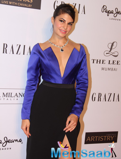 Jacqueline Fernandez Looked Like A Complete Diva At Grazia Young Fashion Awards 2015