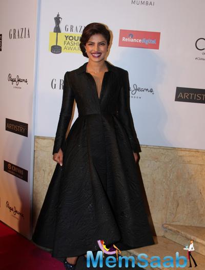 Priyanka Chopra Gorgeous Look At Grazia Young Fashion Awards 2015