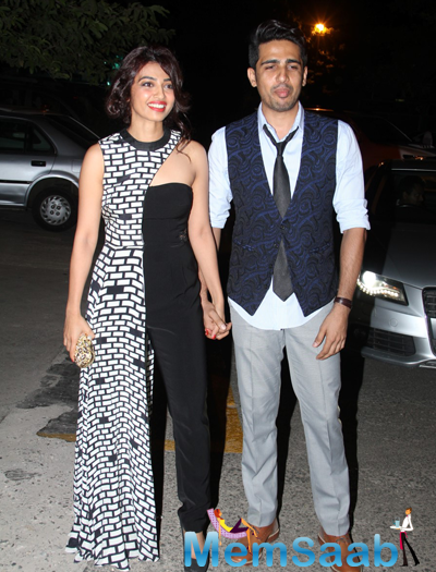 Radhika Apte And Gulshan Devaiah Arrived To Attend The Grazia Young Fashion Awards 2015