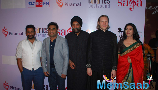 Music Director A R Rahman And Others At Saga Launch Held At Mumbai