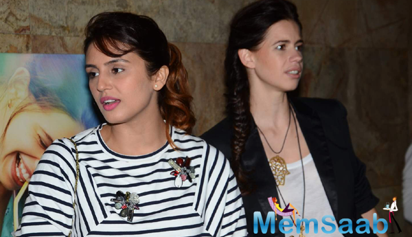 Huma Qureshi And Kalki Koechlin Attend The Screening Of Margarita With A Straw