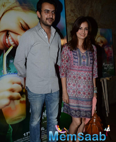 Sahil Sangha And Wife Dia Mirza Posed At The Screening Of Margarita With A Straw